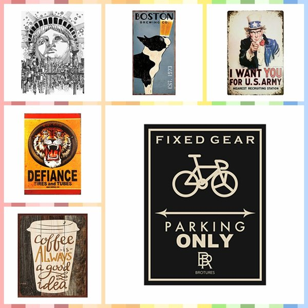 FIXED GEAR PARKING ONLY Multi Size Luxury Home Decor Wall Poster Metal Tin Signs Bedroom Wall Decorations Crafts Art Painting Supplies