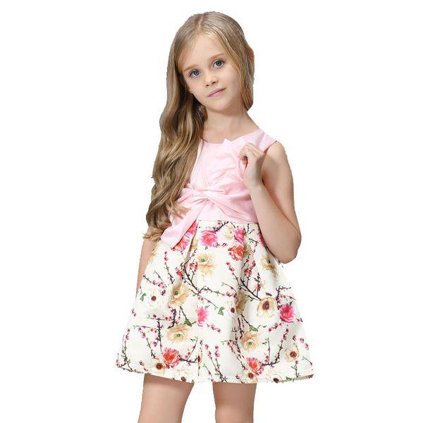 Compre Las Muchachas Hermosas Del Verano De Las Flores Del Verano Visten Las Muchachas De Los Niños Del Adolescente Vestidos Congelados Edad Por 3 11