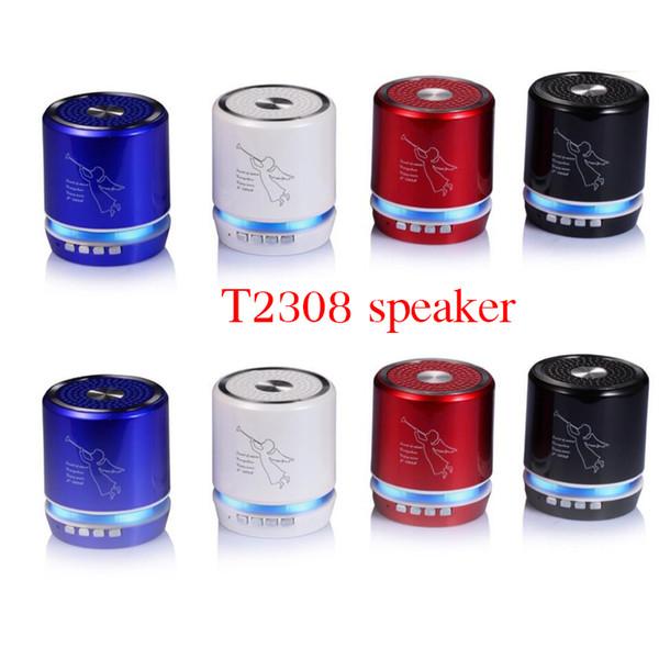 T-2308A Angel Pattern Mini Protable Bluetooth Wireless Speakers Support TF Card VS T-2020A Speaker Shower Waterproof
