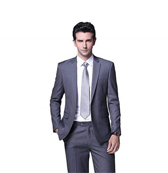 Customized Men's Slim Fit Groomsmen Set 2 Piece Wedding Dress Tuxedo Party Jacket Pants
