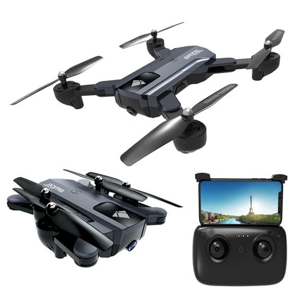 Nuovo pieghevole WiFi Camera Drone 20 minuti Tempo di volo Dual Lens HD WiFi FPV Quadrocopter Altitude Hold RC elicottero flusso ottico RC Drones Toy
