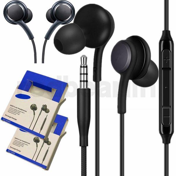 S8 Kulaklık Kulaklıklar 3.5mm Kablolu Stereo Kulaklık Kulak Kulaklık Kulakiçi Mic Ses Kontrolü için Kulaklık samsung s7 s8 artı not 4 5