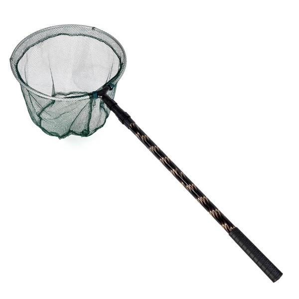 landing Outdoor Sports Fishing 180cm Retractable Telescoping Aluminum Alloy Pole Foldable Fishing Brail Landing Net Tackle