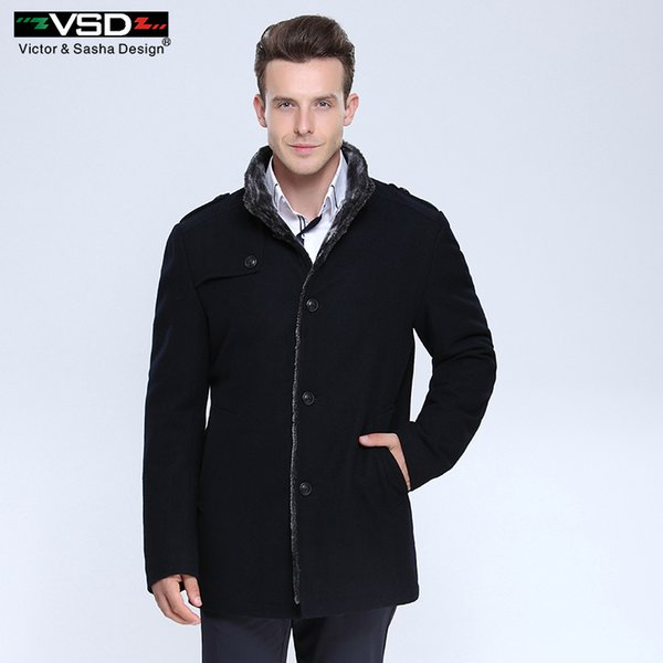 Thick Wool Blends Suit Design Woolen Men's Casual Trench Overcoat Slim Fit Single Breasted Office Suit Jackets Coat for Men C18111601