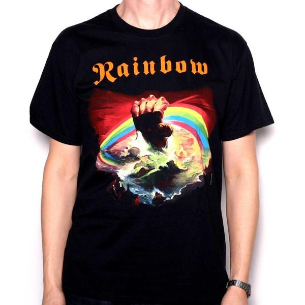Rainbow T shirt - Rainbow Rising Classic Rock T Shirt Deep Purple Blackmore