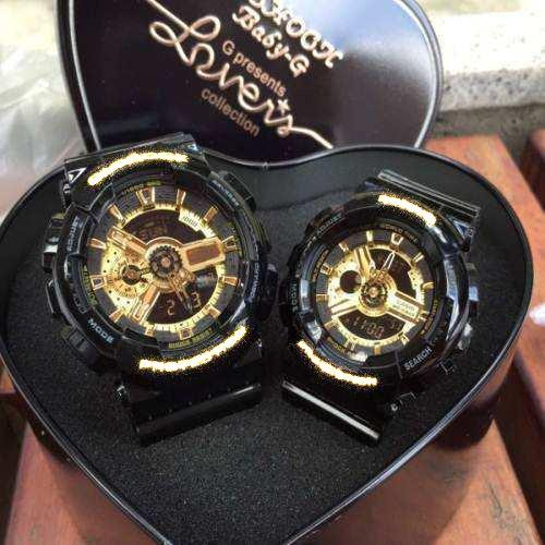 Lover Couple sport wrist watches Multi-function shockproof sport G watch Rubber strap shockproof All Function Work AAA quality watches