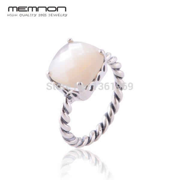 6eff70dea41fef Memnon Fine jewelry European Style Mother of Pearl Rings for women Made of  925 Sterling Silver anillos fine jewelry RIP099