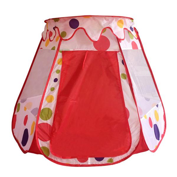 Castelo portátil Tenda de jogo Crianças Cubby House Dobrável Pop up Tenda para Crianças Uso Ao Ar Livre Indoor (Estilo Pontos)