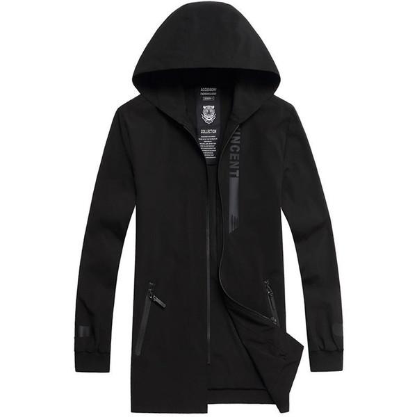 Männer plus größe 6XL 7XL 8XL 9XL Trenchcoat Marke Kleidung Mantel Qualität Männlichen Langen Schwarzen Trenchcoat lässig business