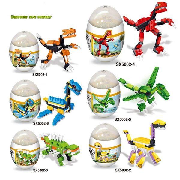 Jurassic Park Minifigures Dinosaur Surprise Gift in Dinosaur Eggs Mini Figures Building Blocks Sets Kids Toy Bricks