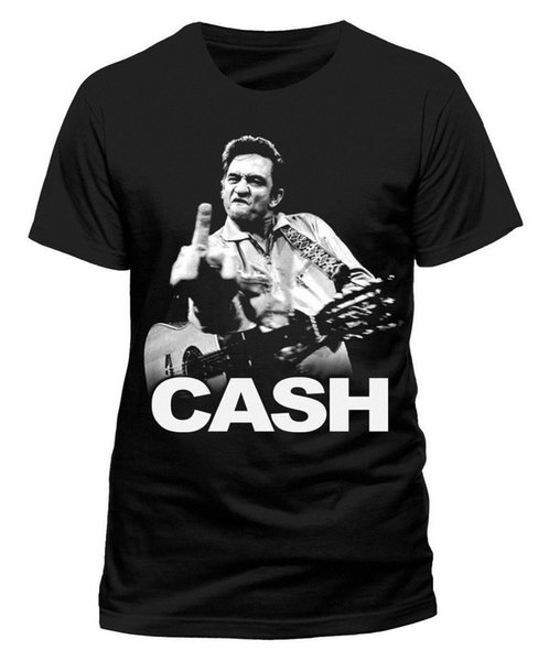 Top Tee For Sale Natural Cotton Tee Shirts O-Neck Design Short Sleeve Johnny Cash Finger T-Shirt T Shirts For Men