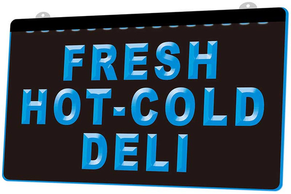LS1696-b-Fresh-Hot-Cold-Deli-Food-Cafe-Neon-Light-Sign Decor Free Shipping Dropshipping Wholesale 6 colors to choose