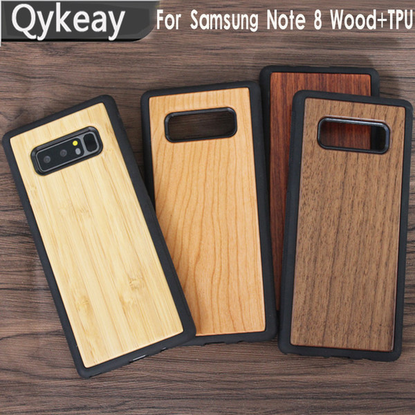 Durable Wooden Cell Phone Cases For Samsung Galaxy Note 8 S9 Plus S8 S7 edge Mobile Phone Wood Case For iphone x 10 7 8 6 6s Bamboo Cover