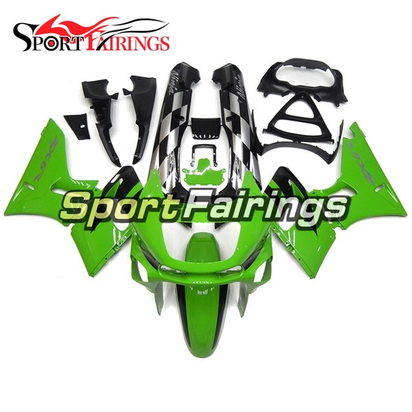 Free Gifts Complete Fairing Kit For Kawasaki ZZR-400 1993 - 2007 05 06 02 06 ZZR-400 93 94 97 Fairings Pure Green Black Bodywork