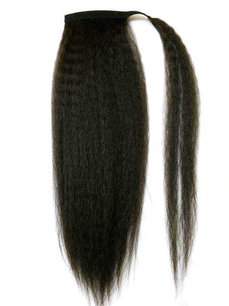 Cabelo Humano Rabo de Cavalo crespo Grosso Hairpieces Virgem cabelo brasileiro natural golpe para fora kinky Yaki Embrulho Reto Em Torno de Rabos De Cavalo extensões de Cabelo