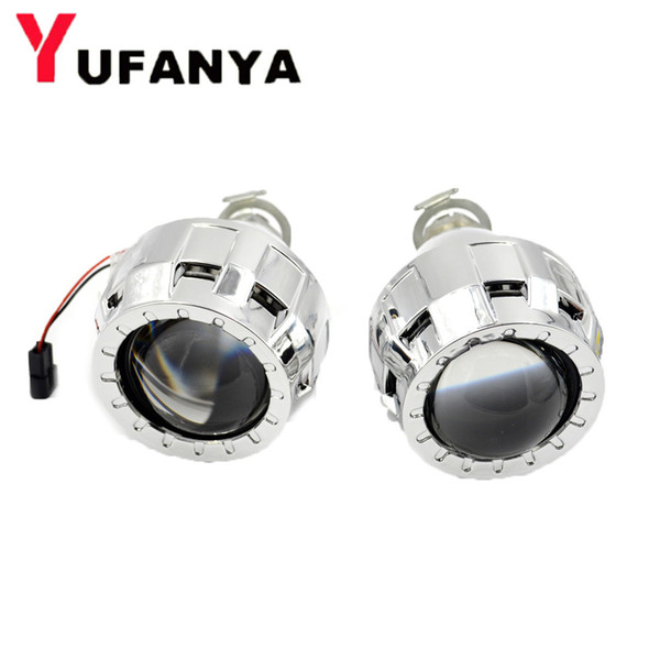 2pcs 2.0 inch hid bixenon lens car projector lens mini h1 hid projector H1 H4 h7 car assembly kit