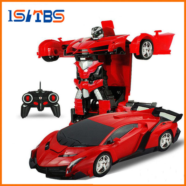 best selling 2In1 RC Car Sports Car Transformation Robots Models Remote Control Deformation Car RC fighting toy KidsChildren's Birthday GiFT