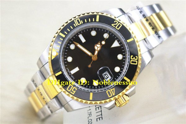 8 style Hot with Box Men's 40mm 116613 116613LB 116613LN Ceramic Bezel 18k Gold & Steel Asia 2813 Movement Automatic Mens Watches