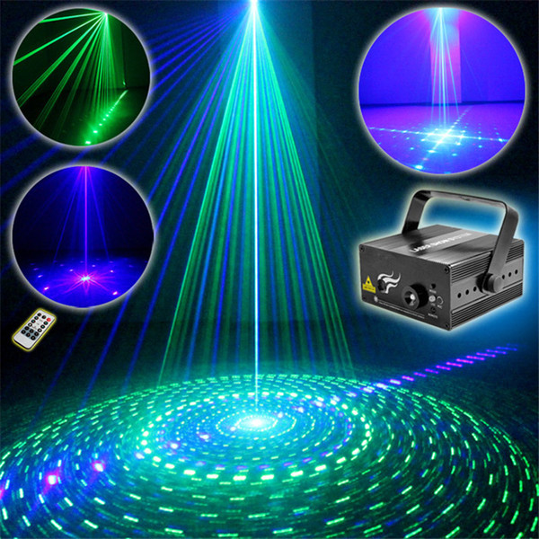 Mini 2 Len 9 GB Green Blue Patterns Projector Stage Equipment Light 3W Blue LED Mixing Effect DJ KTV Show Holiday Laser Stage Lighting L09GB