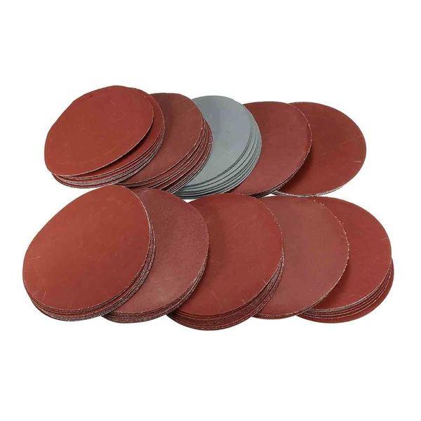 Freeshipping flocado discos de lija de papel de lija 80 100180 240 600 800 1000 1200 2000 3000Grit 100 mm / 4 pulgadas para pulir perlas Burnish wall