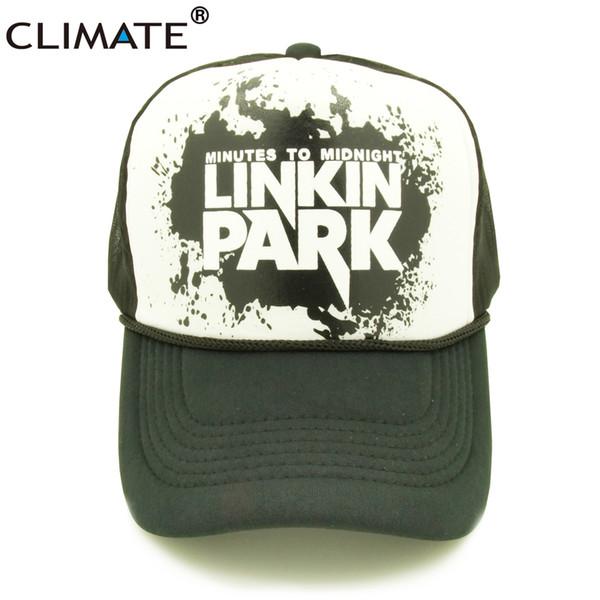 CLIMATE Chester Linkin Park Banda de Rock Cap Homens Mulheres Rock and Roll  Verão Bonés Trucker 50deec04e69