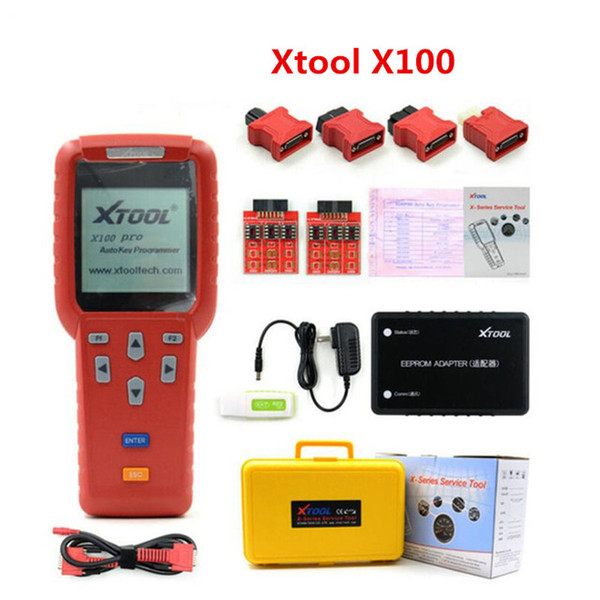 Hot Original Xtool X100 PRO Auto Key Programmer X100+ Updated Version with EEPROM Adapter For Free Shipping