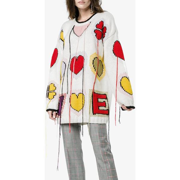 Bir ücretsiz renk sonbahar ve kış kadın kazak, güzel aşk ve püskül tarzı, uzun kollu, mürettebat boyun