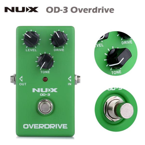 NUX OD-3 Ture Bypass Overdrive Pedal Efectos de Guitarra Eléctrica guitarra Pedal Efectos Alta Calidad Verde Guitar parts