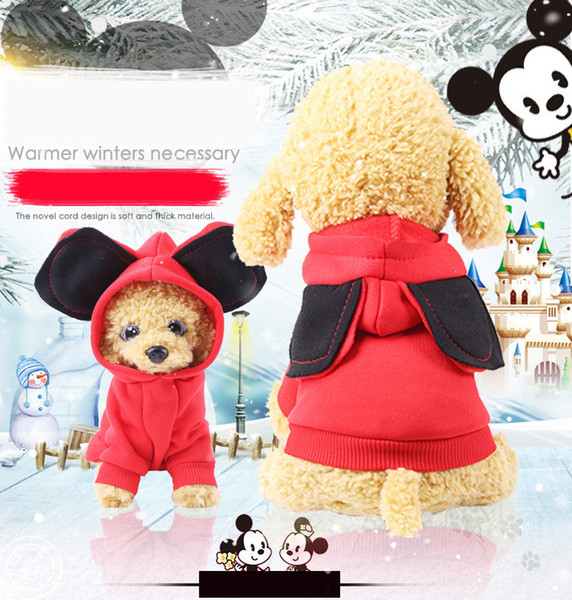 Autumn and winter new big ears tide brand cute cartoon pet clothes dog cat clothing supplies wholesale