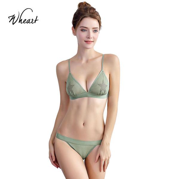 vente en gros 2018 nouvelles femmes mode vert rouge lingerie sexy soutiens-gorge dentelle culotte en coton à armatures soutien-gorge rembourré ensembles plus la taille b c