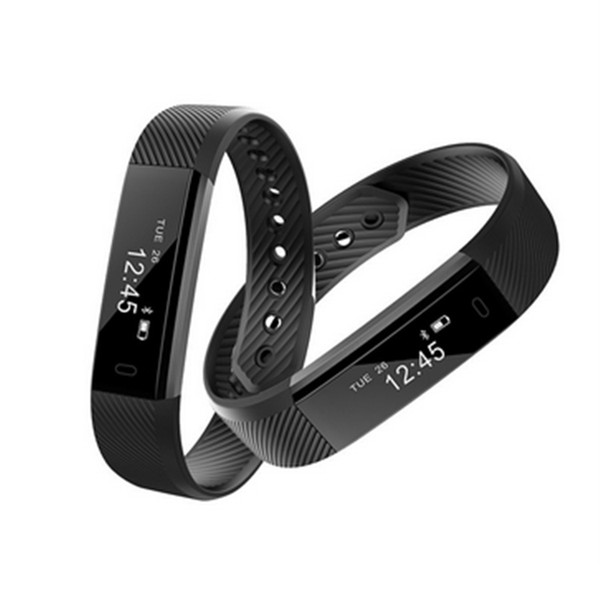 ID115 Smart Bracelet Fitness Tracker Step Counter Activity Monitor Band Alarm Clock Vibration Wristband for iphone Android phone free DHL