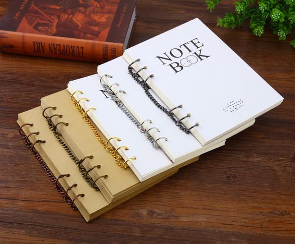 Harphia Creative 3cm Metal Loose Leaf Book Binder Hinged Rings Keychain Album Scrapbook Scrapbook Binders Keychain Album
