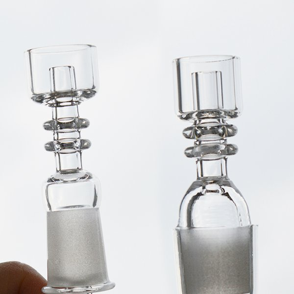 2mm Thickness Domeless Quartz Banger Nail Straight Quartz Bowl Frosted Male Female 10mm 14mm 18mm Joint for Dab Oil Rig Glass Water Bong