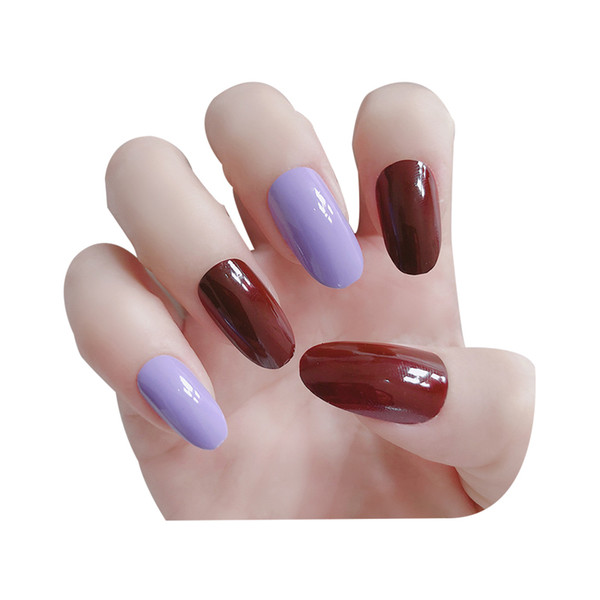 T1 nail tips pure colour Jump color false full false nail artificial nail false