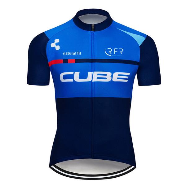 Venda quente de ciclismo Jersey homens CUBE Equipe 2019 mountain bike roupas de verão ao ar livre respirável bicicleta sportswear Maillot Ciclismo Y052301