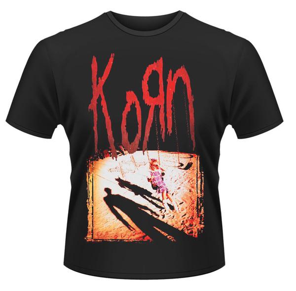 Korn Album 1994 Jonathan Davis Nu Металлическая футболка с лицензией для мужчин 100% хлопок, повседневная печать, футболка с коротким рукавом, мужская футболка с круглым вырезом
