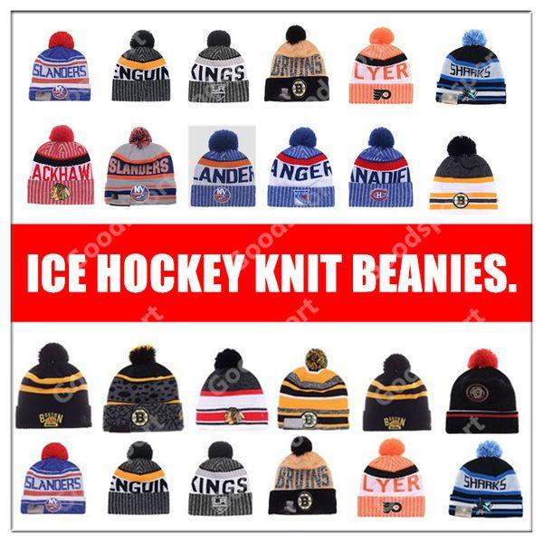 Bonnets de hockey sur glace 2019 RANGER Flyer Bruin Canadien Red Wing Faucon noir Chapeaux KING Pittsburgh Casquette SHARKS ISLANDER