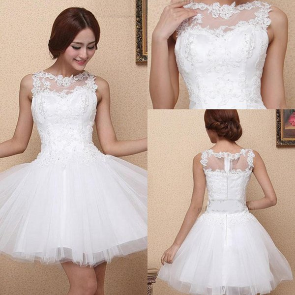 2019 Free Shipping Latest Scoop Neck Amazing A-Line Homecoming Dresses Appliques Lace Prom Party Dresses Zipper-Up Sweet 16 Dress