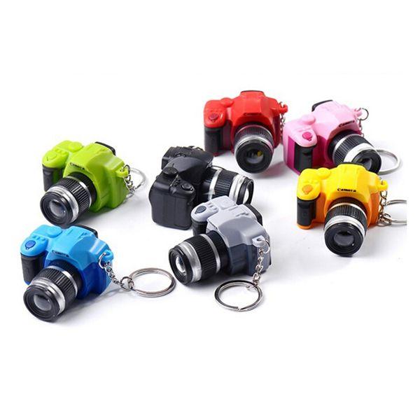 Eva2king LED Brillant Sonore Caméra Clé Voiture Chaîne Clé Enfant Numérique En Plastique Pendentif Caméra Jouets Sac Accessoires Cadeau pour enfants