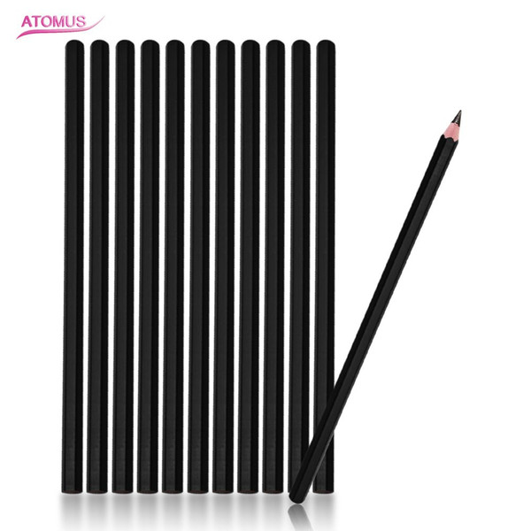 12 Pcs Eyebrow Tattoo Line Design Pencil 4B Fixed Position Waterproof Positioning Pen Tattoo Manuscript Pencil Permanent Makeup Supply