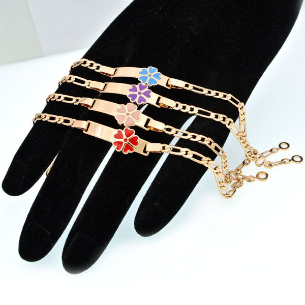 Großhandel Bunte Herz Kinder Armbänder Baby Schmuck Taufe Gold Armband Bebe Pulseras Bracelete Bracciali Bambino Kind Armband B0929 Von Watchoutbaby