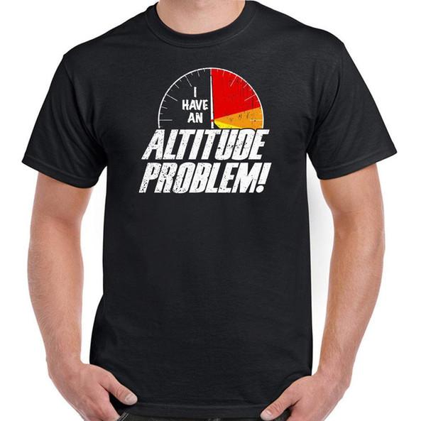 Altitude Problem T-shirt de plongée Sky Funny pour hommes