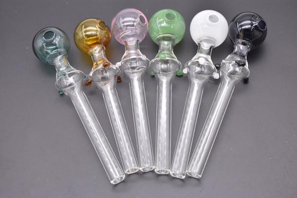 Tubo di fumo del chiodo di olio del tubo del tubo di vetro del tubo del tubo del tubo di vetro del grande pyrex colorato 5.5inch all'ingrosso