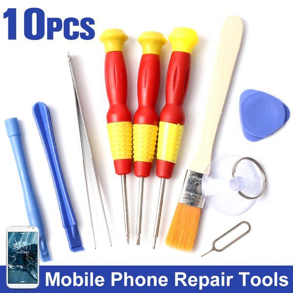 10 In 1 For Iphone Samsung Accessory Bundles Herramientas Cell Phones Opening Pry Mobile Phone Repair Tool Kit Screwdriver Set