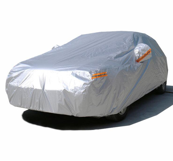 best selling Waterproof car covers outdoor sun protection cover for car reflector dust rain snow protective suv sedan hatchback full