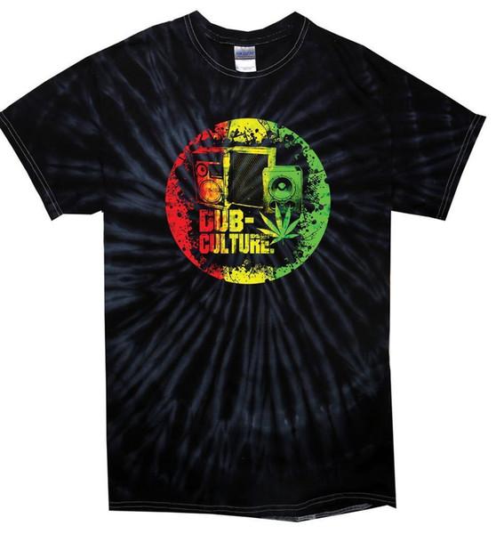 Camiseta de tirantes con cuello redondo de Dub Culture Reggae - Bob Marley Camiseta de manga larga con cuello redondo de Rasta Festival de Rana Homme