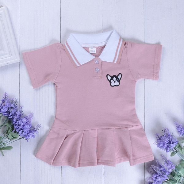 Fashion Girls Dress School Uniform Short Sleeve Summer Princess Party Skirt Preppy Style Infant Girl Dress Baby Girls Clothes