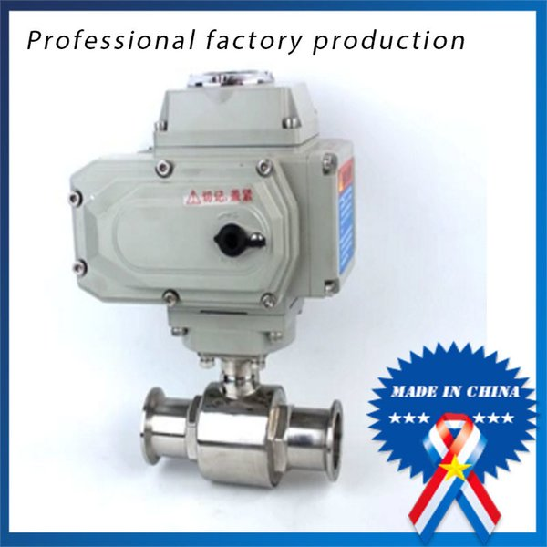 best selling 3 4 inch Stainless Steel Sanitary Quick-mounted Electric Ball Valve