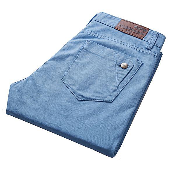 20178 New Fashion Korean Style High Street Slim Fit Button Personality Vintage Classical Denim Pants Plus Size man Trousers