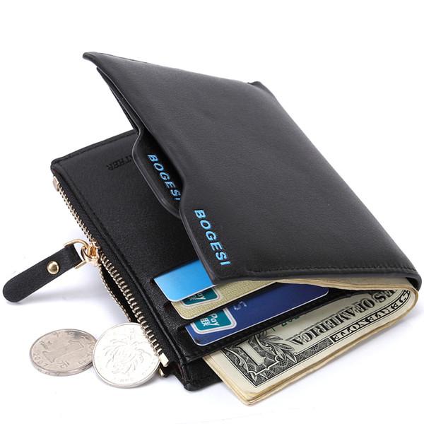 2018 heiße Männer Brieftasche Kurze Karte Paket Büroklammer Einfache Atmosphärische Leder Clutch Design Marke Männer Brieftaschen Münztüte